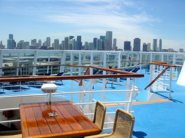 View of Miami from cruise ship