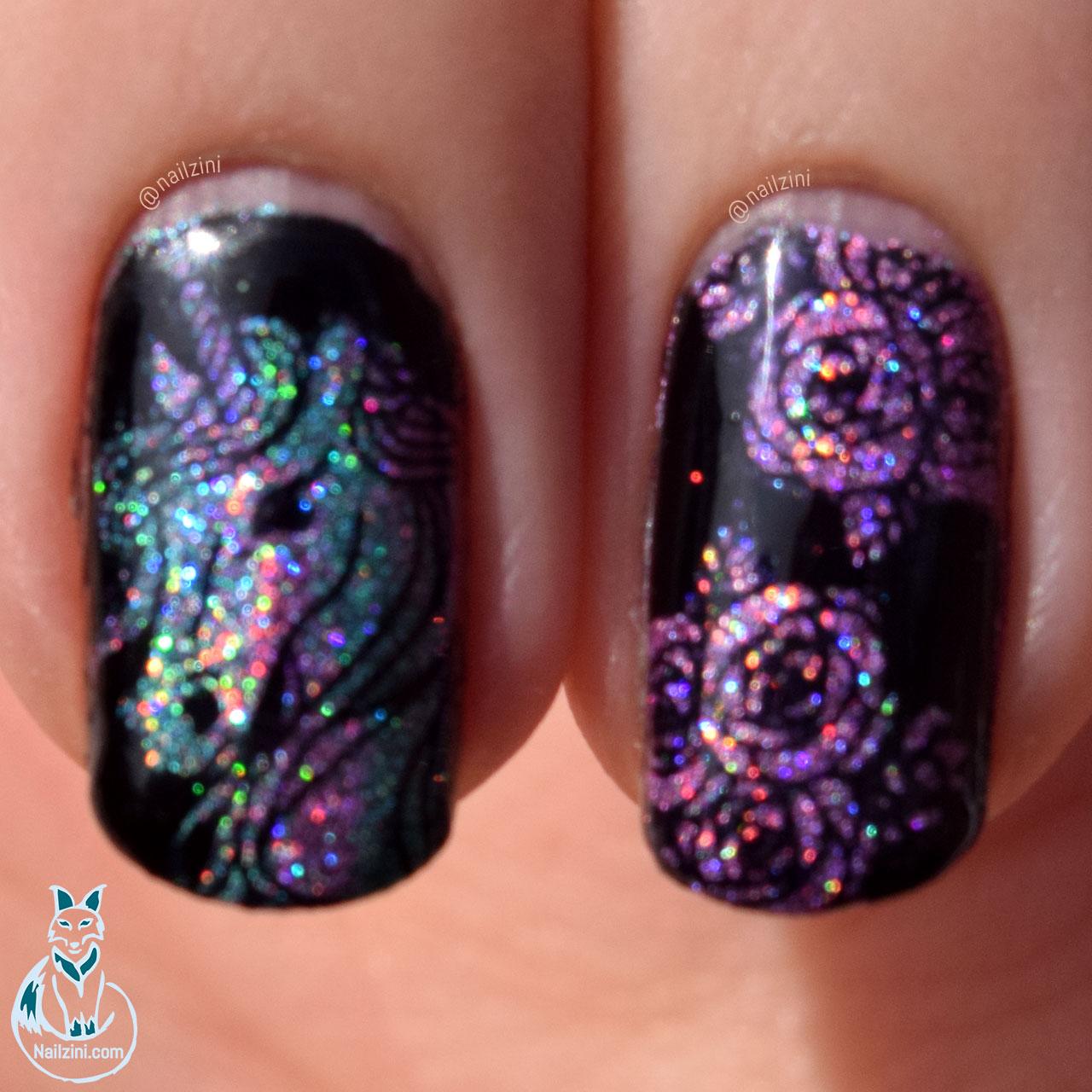 Holographic Unicorn Nail Art | Nailzini: A Nail Art Blog
