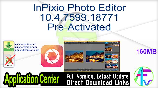 InPixio Photo Editor 10.4.7599.18771 Pre-Activated
