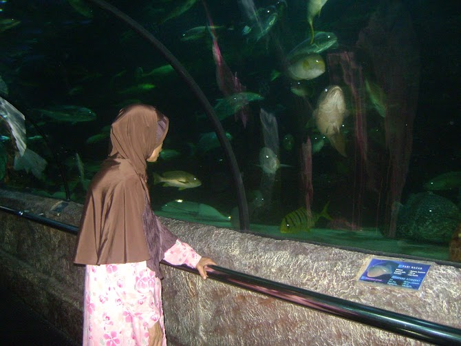 Pengalaman Nawra dan  Nenek Mengunjungi Sea World Indonesia