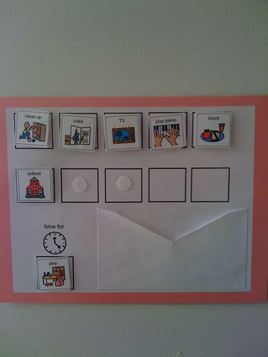 aba program template - creating order in the home daily schedules i love aba
