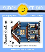 Sunny Studio Stamps Victorian Christmas Winter Holiday House 2x3 Clear Photopolymer Stamp Set