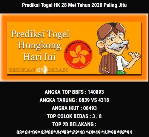 Prediksi HK Malam Ini 28 Mei 2020 - Bisikan Mbah