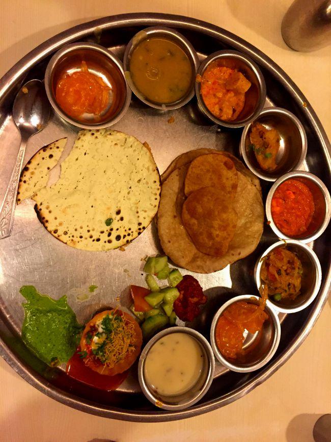 Rajasthani Thali at Natraj Dining Hall Udaipur