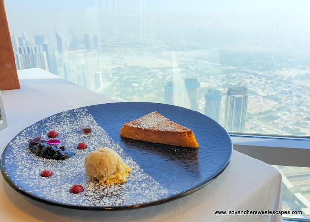 French toast in Atmosphere Burj Khalifa