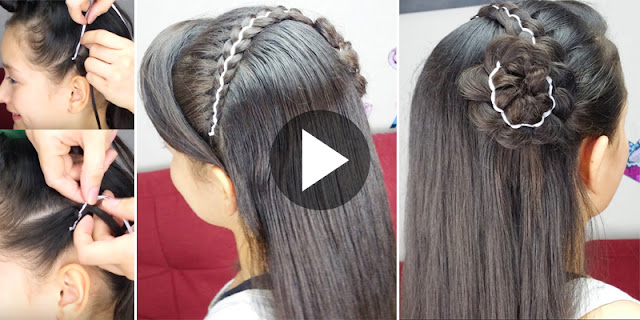 Learn - How To Create Simple And Easy 5 Strand Headband Hairstyle, See Tutorial