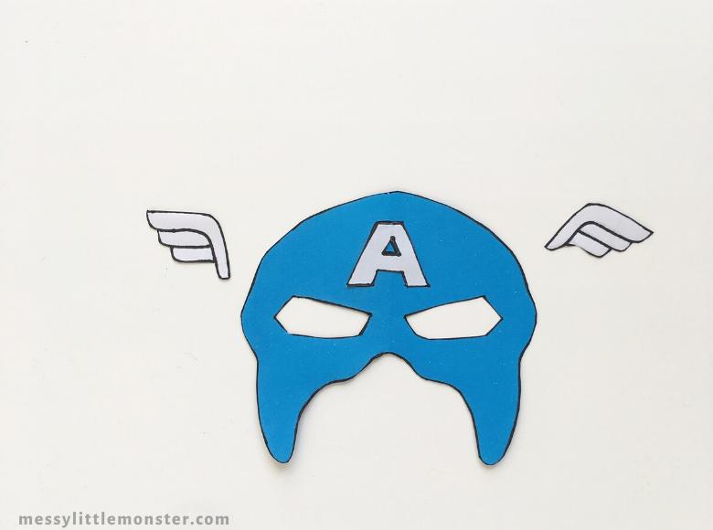 Captain America craft for kids
