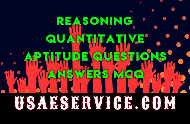 Reasoning Quantitative Aptitude Questions Answers IAS PCS