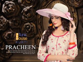 """Tunic house Pracheen"" Rayon printed kurtis catalog"