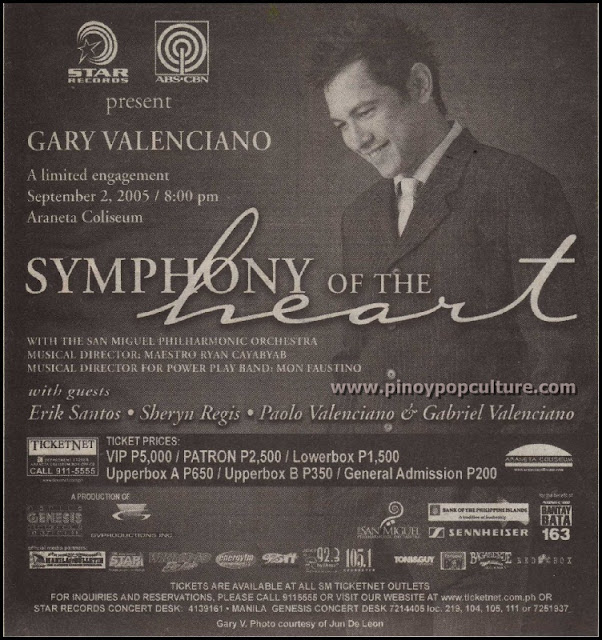 Gary Valenciano, Symphony of the Heart