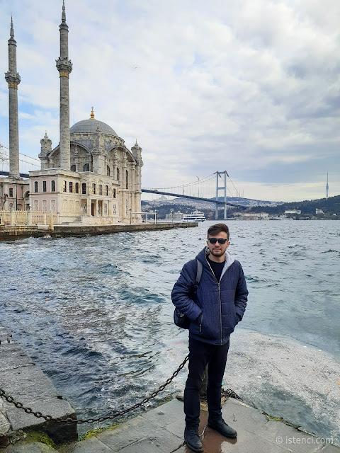 Harun İstenci Ortaköy Camii (Büyük Mecidiye Camii) Beşiktaş, İstanbul'da - Ocak 2020
