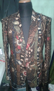 Blaser batik full canvassed