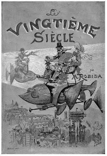 Albert Robida, Le Vingtième Siècle, Paris, Georges Decaux, 1883. Premier plat du cartonnage. Coll. part.