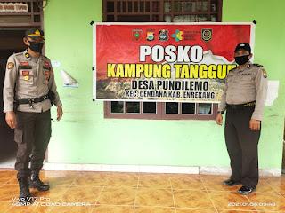 Kapolsek Cendana Polres Enrekang Bersama Ka SPKT Kontrol Kampung Tangguh Desa Pundi Lemo Ini Yang Di Sampaikan