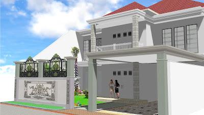Taman halaman depan rumah surabaya