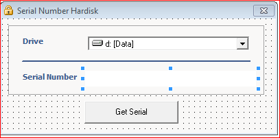 Tutorial Mengetahui Serial Number Hardisk Menggunakan VB6, cara mendapatkan serial number dari hardisk melalui form visual basic