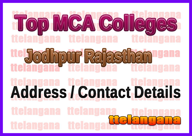 Top MCA Colleges in Jodhpur Rajasthan