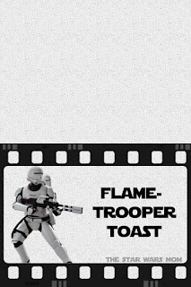 Flametrooper French Toast Star Wars Food Label