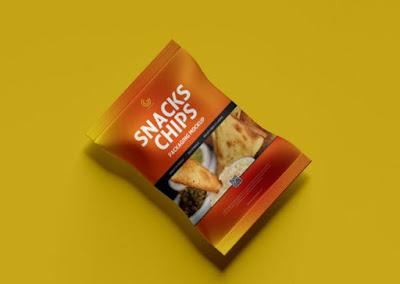 Mockup Kemasan Snack