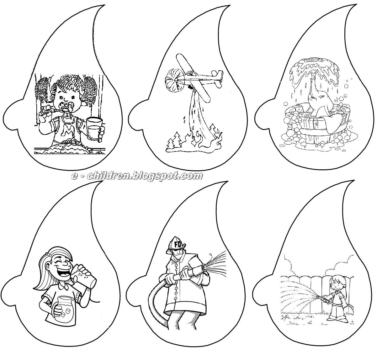 Dibujos Para Colorear Día Del Agua Blog De Imágenes