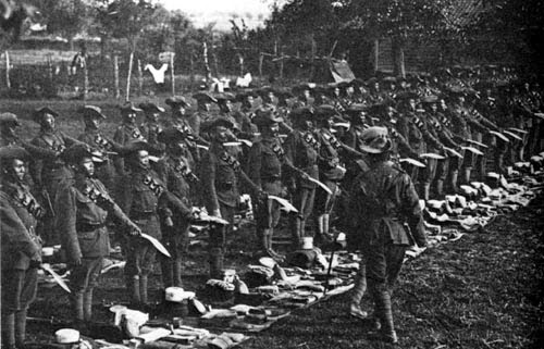 Gorkha Rifles Kukri  Inspection Somewhere in France in WWI