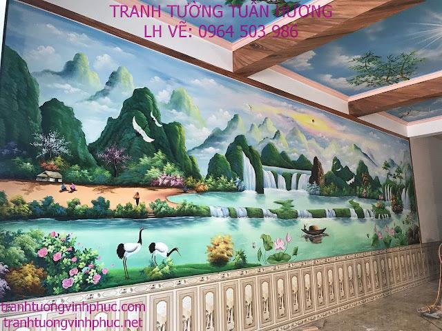 vẽ tranh tường tại thị trấn yên lạc vĩnh phúc4