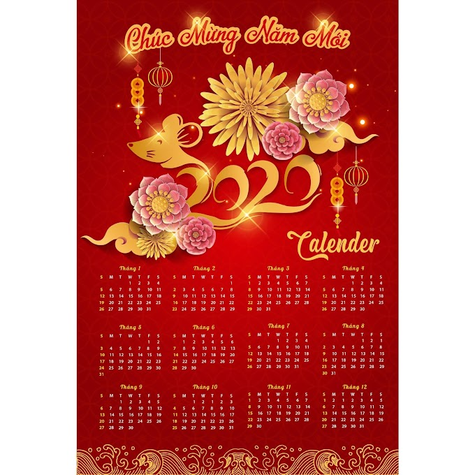 happy new year 2020 calendar and happy new year 2020 design template free psd