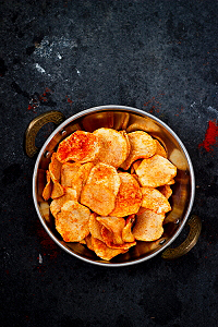 How to make sun dried potato chips recipe, batate sandige recipe, aloogadde sandige recipe, aloo chips, aloo sandge recipe, how to make aloo papad recipe, potato chips recipe at www.oneteaspoonoflife.com