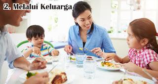 Melalui Keluarga merupakan salah satu cara penerapan nilai pancasila pada generasi milenial