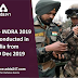 Exercise INDRA 2019 to be conducted in India from 10-19 Dec 2019