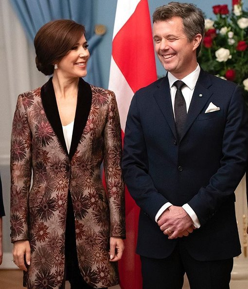 President Raimonds Vējonis and First Lady  Iveta Vējone held an official dinner for Crown Prince couple