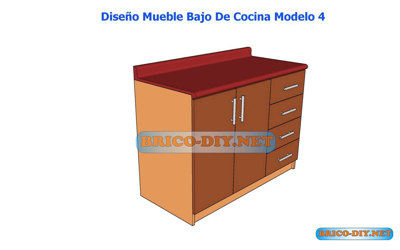 Dise os de muebles bajos de cocina en mdf madera y for Diseno de muebles para cocina