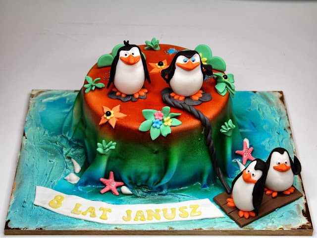 The Penguins of Madagascar Birthday Cake , London