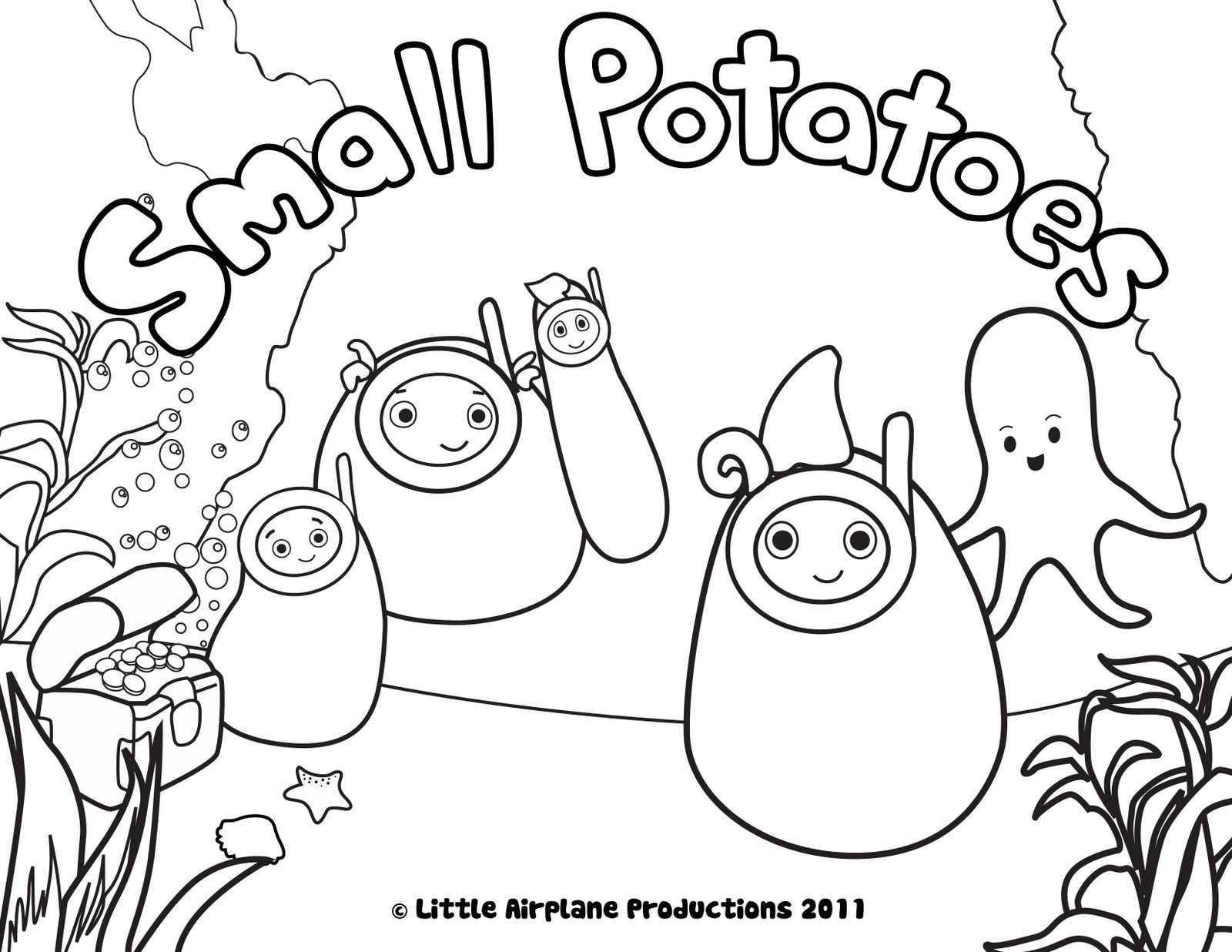 erica kepler: Small Potatoes Coloring Pages!
