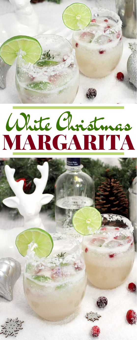 White Christmas Margarita #drinks #alcohol #cocktails #christmas #beverages