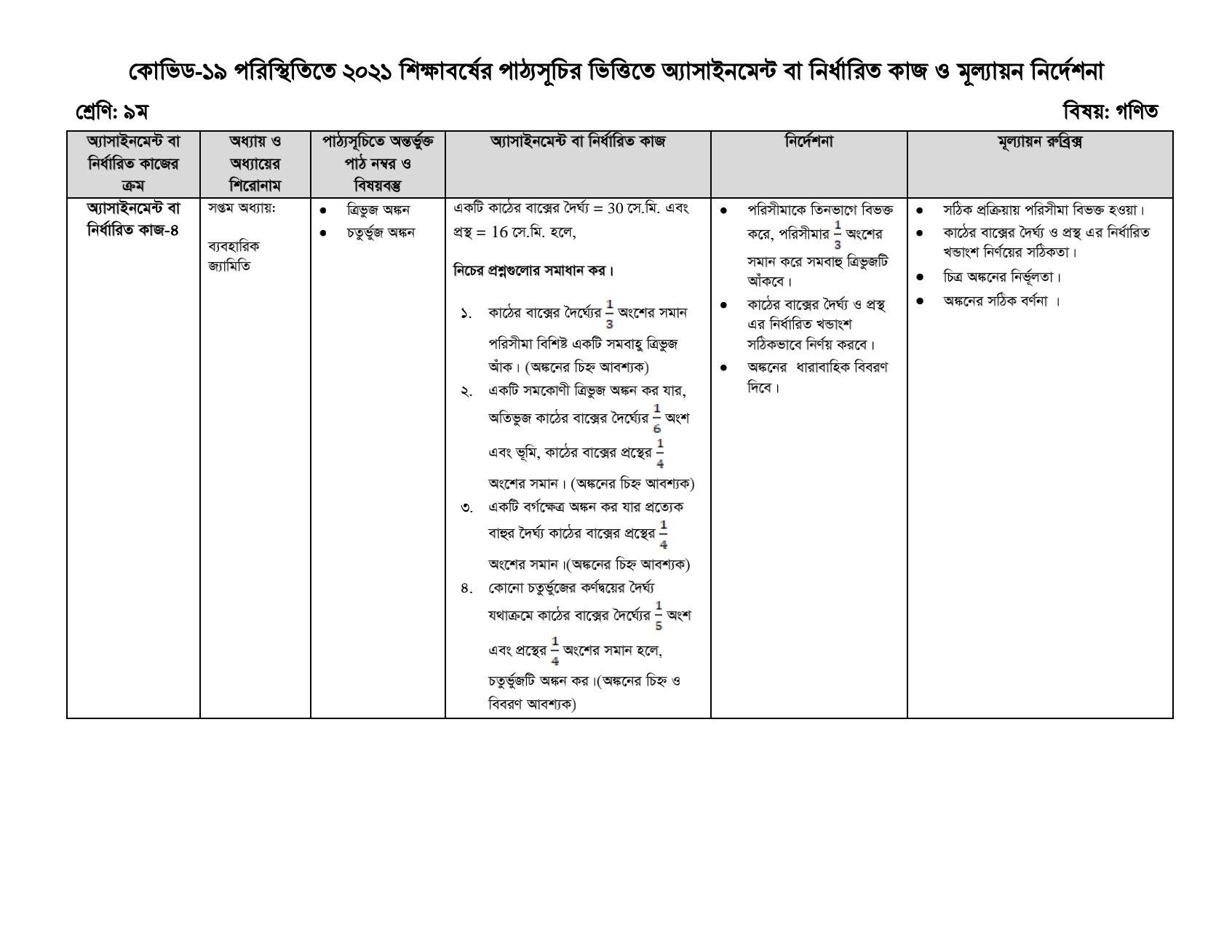 ৯ম শ্রেণির ১৫তম সপ্তাহের এসাইনমেন্ট,৯ম/নবম শ্রেণির এসাইনমেন্ট ২০২১ উত্তর/সমাধান ১৫তম সপ্তাহ PDF,  Class 9 Nine 15th Week Assignment Answer /Solution 2021 PDF