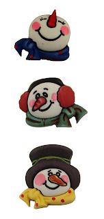 Snowmen Buttons