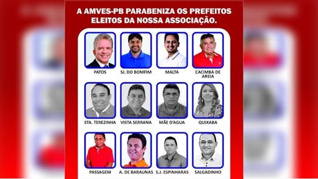 Presidente da AMVES parabeniza prefeitos eleitos no último domingo