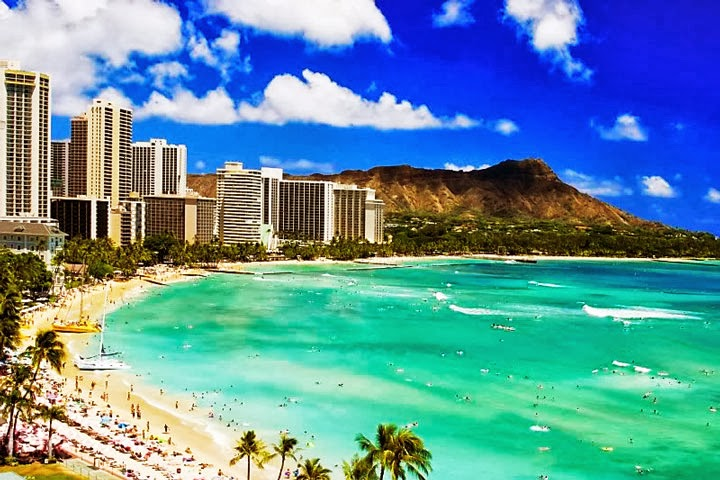 Waikiki Beach Hawaii Wallpaper Desktop HD (720 X 480