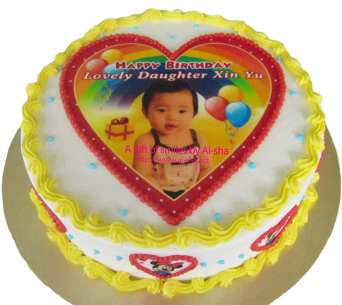 Birthday Cake Edible Image Birthday Girl Ai-sha Puchong Jaya