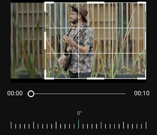how to crop video frame on android