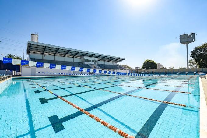 Atrasada, obras na piscina do Bolão estão em fase de conclusão