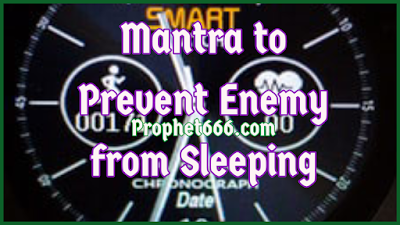 Revenge Spell  to Prevent Enemy from Sleeping