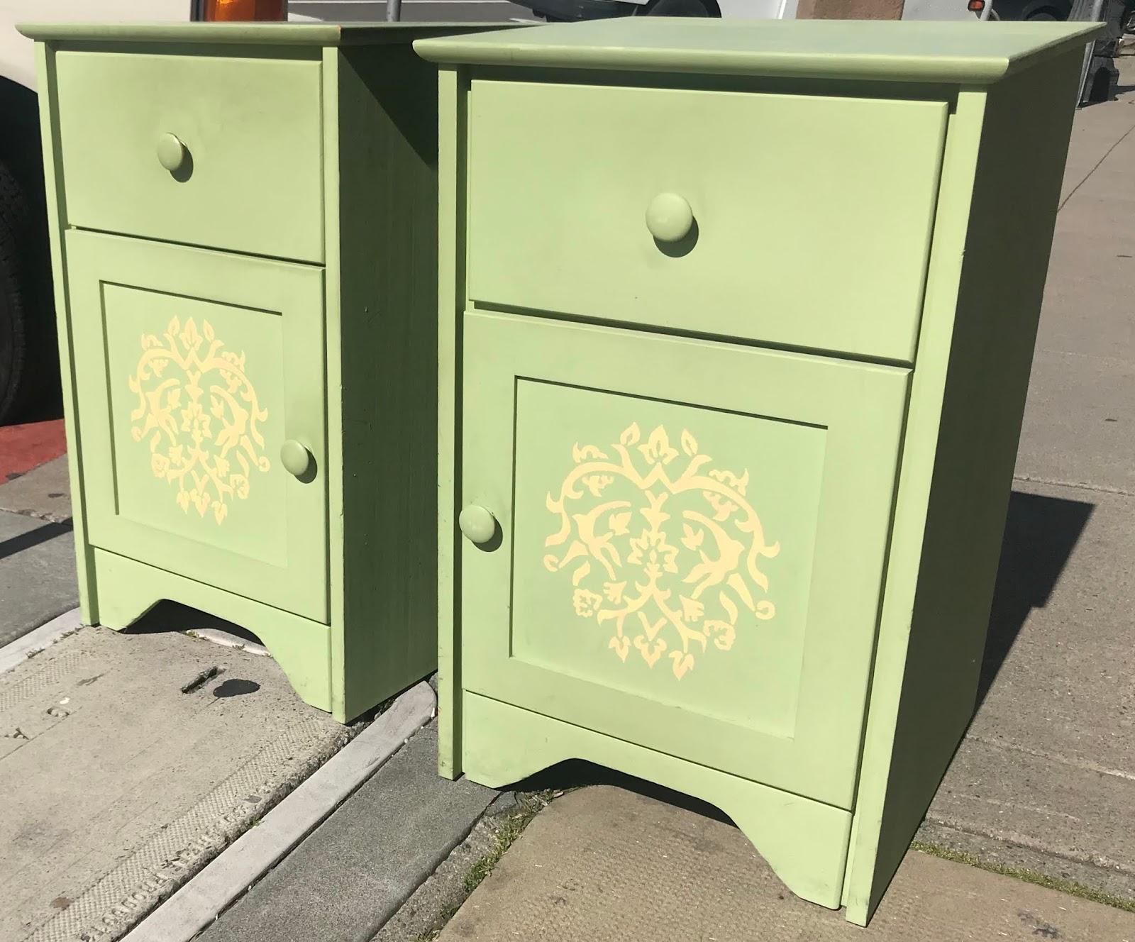 24982 Hand Painted Fenton Maclaren Pine 18 5 Wide Nightstands 125 Pair