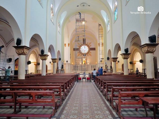 Vista do interior da Paróquia Sant'Ana - Santana - São Paulo