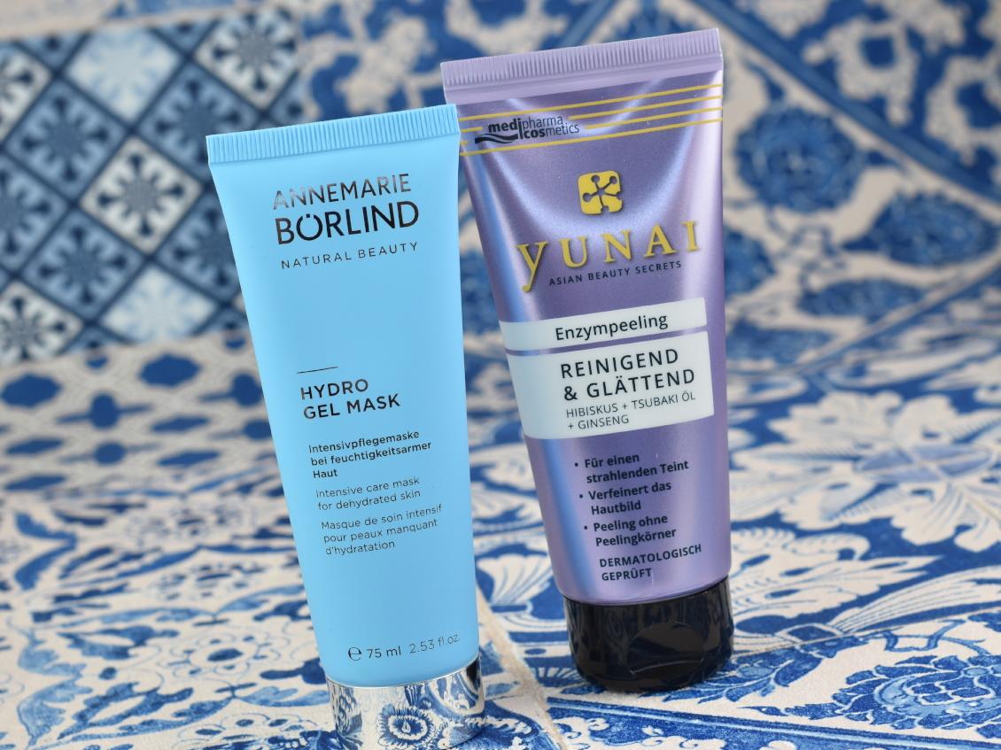 Sommer Favoriten 2019- medipharma cosmetics Yunai Enzympeeling und Annemarie Börlind Hydro Gel Maske