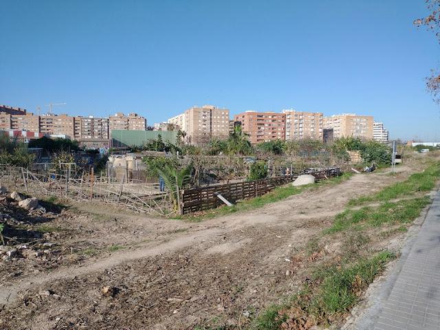 Imagen 12: En Benimaclet sigue las mismas pautas que en otras ciudades y pueblos de la Comunidad Valenciana: Masías, casas y tierras ocupadas, chabolas construidas en solares.