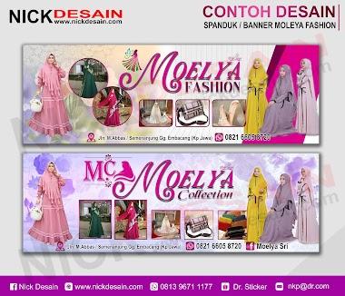 Contoh Desain Spanduk / Banner Toko Pakaian - Percetakan Murah Tanjungbalai