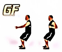 latihan otot punggung Half squat row