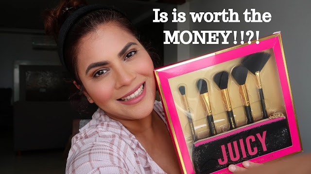 Juicy Couture Brushes Review,Juicy Couture, best makeup brushes, which makeup brushes to buy, Foundation Brush,Round Blush Brush,Angular Contour Brush, Highlighting Fan brush, Blending Eye Brush, how to use face brushes, how to use makeup brushes, Indian youtube, designer makeup brushes, cheap good quality makeup brushes, makeup brushes india,beauty , fashion,beauty and fashion,beauty blog, fashion blog , indian beauty blog,indian fashion blog, beauty and fashion blog, indian beauty and fashion blog, indian bloggers, indian beauty bloggers, indian fashion bloggers,indian bloggers online, top 10 indian bloggers, top indian bloggers,top 10 fashion bloggers, indian bloggers on blogspot,home remedies, how to